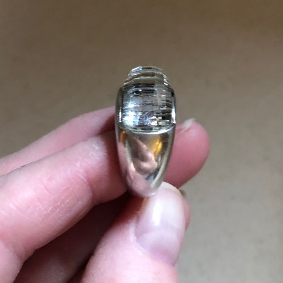 1fd35e4440e67 SWAROVSKI dome ring RARE! Solid 925,white Chrystal